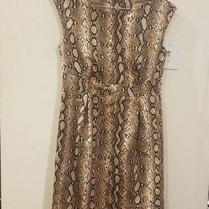 Micheal Kors animal pattern dress size 6